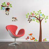 #Casaecucina #10: Wall Sticker Adesivo da Parete Scimmia Albero Decorazione Casa