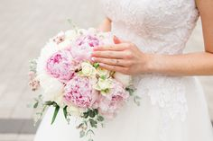 Peony wedding bouquets Check my website for more inspiraton! Peony Bouquet Wedding, Wedding Flowers, Wedding Dresses, Peonies, Floral Wreath, Wreaths, Website, Elegant, Check