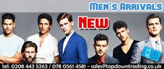 WE ARE PLEASED TO OFFER New Men's Arrivals #fashion #wholesaleclothing #ukfashion http://www.topdowntrading.co.uk