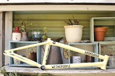 Wethepeople Doomsayer Frame - Check Out The Wethepeople Doomsayer Frame with it's awesome lifetime warranty it's one solid frame - Available here at Anchor BMX located in Melbourne and shipping Australia wide daily. Bmx Frames, Bottom Bracket, Pastel Yellow, It Cast, Anchor, Anchors