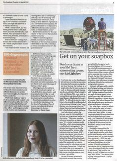The Guardian included us in their round-up of Film Schools focusing on getting screenwriter graduates into jobs in the TV industry!