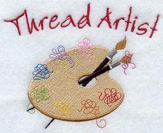 Thread Artist design (A1951) from www.Emblibrary.com