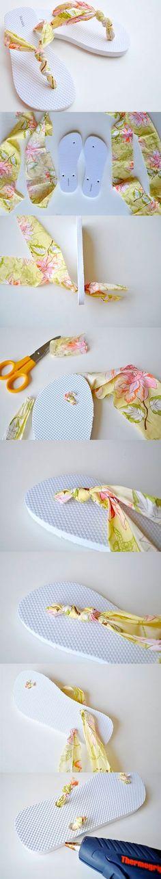 Chinelo personalizado com tecido para você fazer                                                                                                                                                                                 Mais