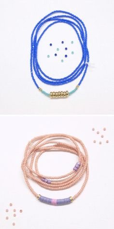 Pretty, simple beaded necklaces from stelliyah