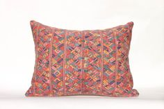 "Geometric Boho Mayan Lumbar Pillow Sham 15x20"", Salmon color / pale copper…"