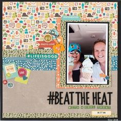 @CSMscrapbooker posted to Instagram: #Beattheheat LOVE this layout designed by Jenn Hood as featured in the Summer issue of Creative Scrapbooker Magazine. We totally agree - ICE CREAM is the best choice for beating the summer heat!  Subscribe today to Creative Scrapbooker Magazine!   ➡Pop on over to our profile and click on the smart.cio/csmscrapbooker for a direct link to get your subscription started!  #jennhood #CSMscrapbooker Scrapbooking Layouts, Scrapbook Pages, Beat The Heat, Layout Design, Life Is Good, Magazine, Love, Creative, Frame