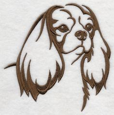 Items similar to Cavalier King Charles Spaniel Silhouette Embroidered Hand Towel on Etsy Cavalier King Charles Spaniel, Puppy Mix, Dog Quilts, Dog Silhouette, Silhouette Design, Cartoon Drawings, Machine Embroidery Designs, Embroidery Ideas, Painted Rocks