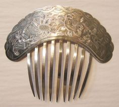 Sterling Silver Hand Chased Mantilla Comb