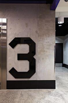 Interior Design - Floor number - Sleek, Simple, Industrial, Polished, Rough, Sharp edges & corners
