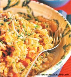 Risotto con calabacita / 4 porciones. Recetas faciles. Recetas gratis y sencillas de postres: http://recetasnutricionales.blogspot.com.ar/2010/09/risotto-con-calabacita.html