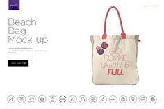 Beach Bag Mock-up by mesmeriseme.pro on @creativemarket
