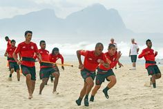 Flamengo training on the beach
