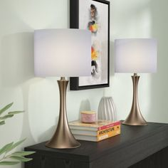 Surprise Deal Louis 2 Piece Table Lamp (Set of By Zipcode Design Modern Bedside Table, Bedside Table Lamps, Table Lamp Sets, Bedroom Lamps, Master Bedroom, Console Table, Bedroom Table, Closet Bedroom, Bedroom Lighting