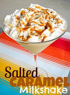 salted caramel milkshake - oh my