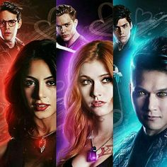 Sizzy, Clace, e Malec - Shadowhunters Clary Et Jace, Alec And Jace, Clary Fray, Isabelle Lightwood, Jace Wayland, Alec Lightwood, Cassandra Clare, Shadowhunters Series, Shadowhunters The Mortal Instruments