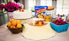 Home & Family - Recipes - Raspberry Filled Apricot Cake | Hallmark Channel