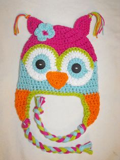 owl hat crochet kids hat crochet baby hat by VioletandSassafras, $24.00