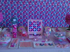 Lovely Princess Tea Party Table scape via Catch The Party!