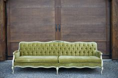 Gorgeous velvet sofa.