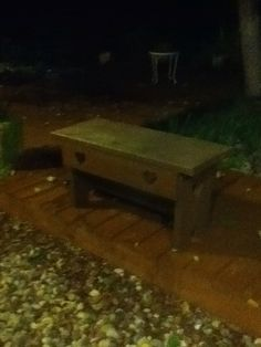 2 person outdoor bench designed and made by Conrad