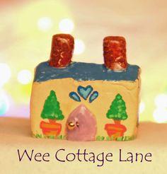Elegant Mini Cottage, Mini House, Tiny House, Ceramic House, Mini Cottage, Miniature Cottage, Wee Cottage Lane, Tiny Home, Miniature Home
