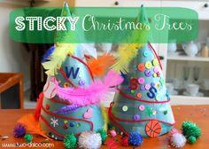 sticky Christmas trees