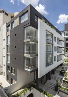 1000 images about fachadas minimalistas on pinterest - Fachadas edificios modernos ...