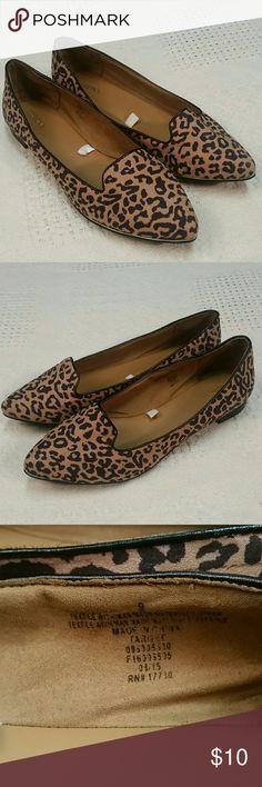 Animal print Merona flats Merona size 9 animal print flats, slip on shoes, preowned condition Shoes Flats & Loafers