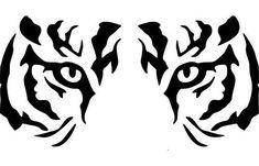 The vinyl has a 6 year life span when properly installed. Tiger Stencil, Eye Stencil, Stencils, Animal Stencil, Stammestattoo Designs, Vinyl Designs, Tiger Silhouette, Silhouette Vinyl, Tiger Art