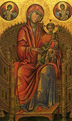 Madonna and Child on a Curved Throne National Gallery of Art, Washington Madonna, Byzantine Art, Painting, National Gallery Of Art, Art, Madonna And Child, Catholic Art, Christian Art, Byzantine