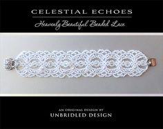 Celestial Echoes beaded lace bracelet pdf by UnbridledDesign