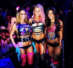 Sexy rave girls dancing