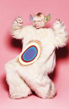 Sia's FLYING BEAR FACE