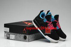 f545c8490862 Air Jordan IV Womens Black Blue Pink