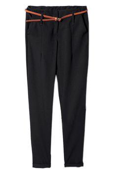 Suit Materials Black Pencil Pants#Romwe