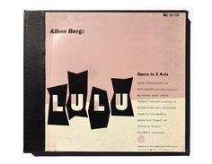 "Alvin Lustig record album design, Alban Berg ""Lulu"" LP box set by NewDocuments on Etsy"