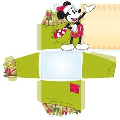 Set the Christmas table with these Mickey Mouse place card holders that your guests will be so happy to take home!