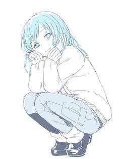 Just sitting here. I let my hair free Anime Chibi, Kawaii Anime, Manga Anime, Anime Art, Drawing Cartoon Characters, Character Drawing, Anime Characters, Anime Classroom, Anime Traps