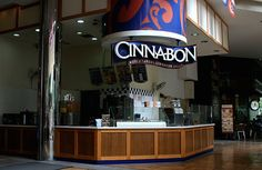 No trip to the mall or airport is complete without a visit to that shrine to the noble cinnamon bun: Cinnabon. Cinnabon, Visual Display, Food Facts, Cinnamon Rolls, Cooking Recipes, Fun Food, Atlanta, Packaging, Graphics