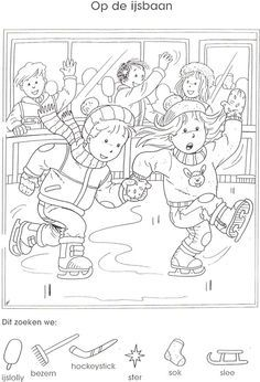 (2017-10) Find 6 det School Coloring Pages, Magic Squares, Hidden Pictures, Hidden Objects, Activity Sheets, Exercise For Kids, Winter Activities, Creative Thinking, Winter Theme