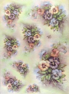 Ricepaper/ Decoupage paper, Scrapbooking Sheets /Craft Paper Vintage Pansy in Crafts, Cardmaking & Scrapbooking, Decoupage | eBay