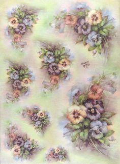 Ricepaper/ Decoupage paper, Scrapbooking Sheets /Craft Paper Vintage Pansy in Crafts, Cardmaking & Scrapbooking, Decoupage | eBay
