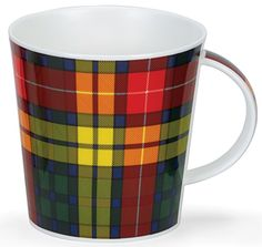Dunoon Large Bone China Mug Made in UK. Buchanan Tartan Design Cairngorm #Dunoon #FrenchCountry