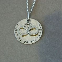 I love My Police Officer Please Keep Him/Her Safe by WireNWhimsy, $28.00