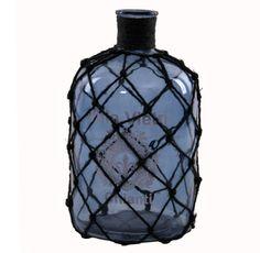 Botella en Cristal Villa Vietri con Malla 18 x 18 x 33 centímetros