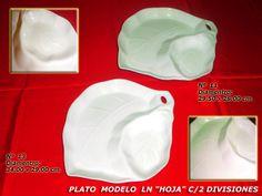 """Plato Modelo LN """"Hoja"""" c/2 Divisiones"""