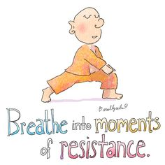 Breath into moments of resistance. Buddha Doodles
