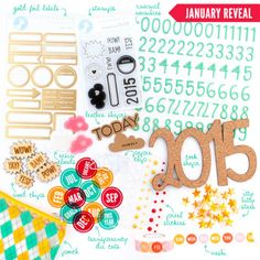 FreckledFawn.com OHDEERME JANUARY 2015 Exclusive Embellishment Paper Crafting Kit Club featured at scrapclubs.com