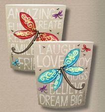 Dream Big Dragonfly Positive affirmation spiritual paper Lantern Light Up LED