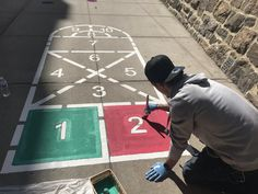 Playground Painting, Hopscotch, Pta, Baby Ideas, Playroom, Activities For Kids, Kids Rugs, Projects, Home Decor